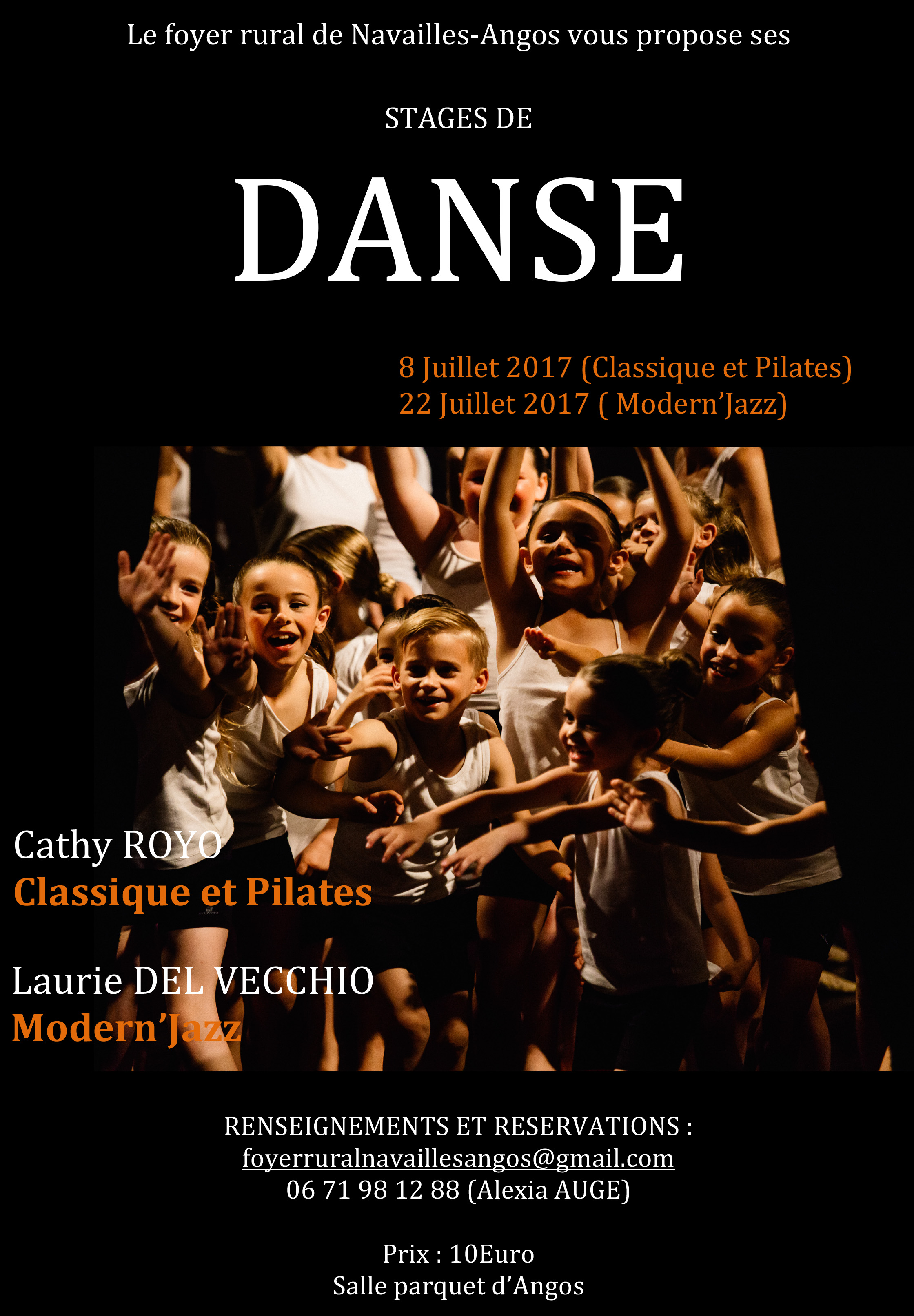 Affiche stage danse foyer 2017